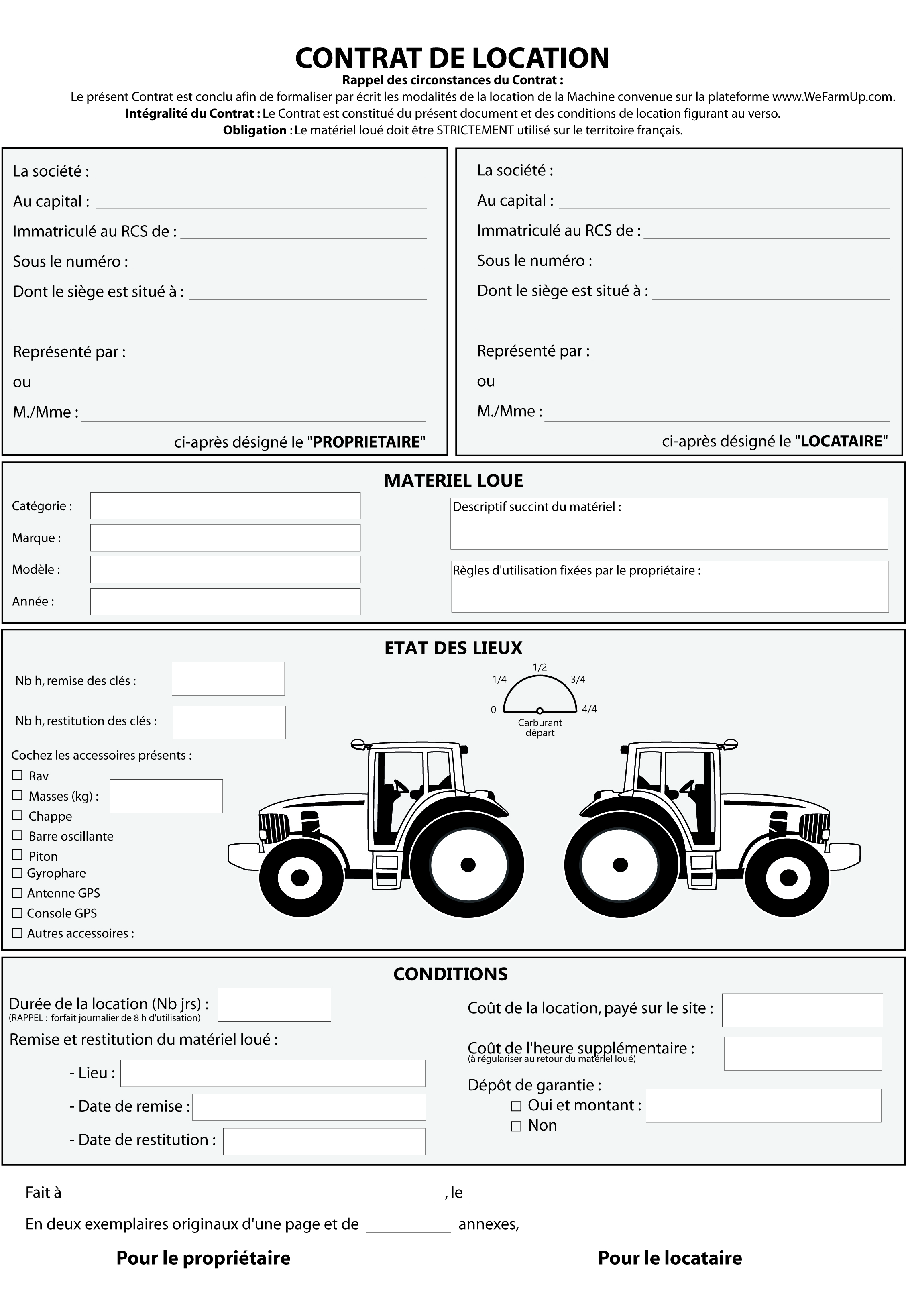 Le contrat de location type rent farming - Fin de contrat de location ...
